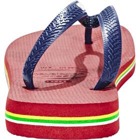 havaianas Brasil Logo Sandalen Heren rood